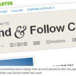 Crowdfunding website Kickstarter hacked, recommends users change passwords