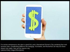women and crowdfunding