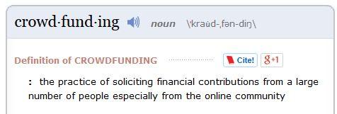Crowdfunding dictionary