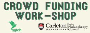 Carelton crowdfunding workshop