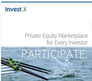 InvestX landing page