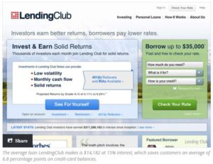 Lending Club dashboard