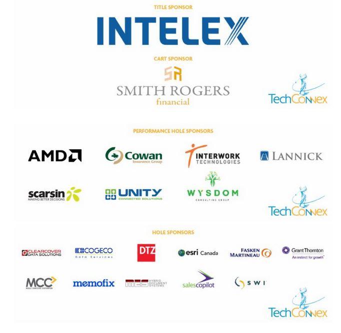 Techconnex Intelex golf tournament sponsors