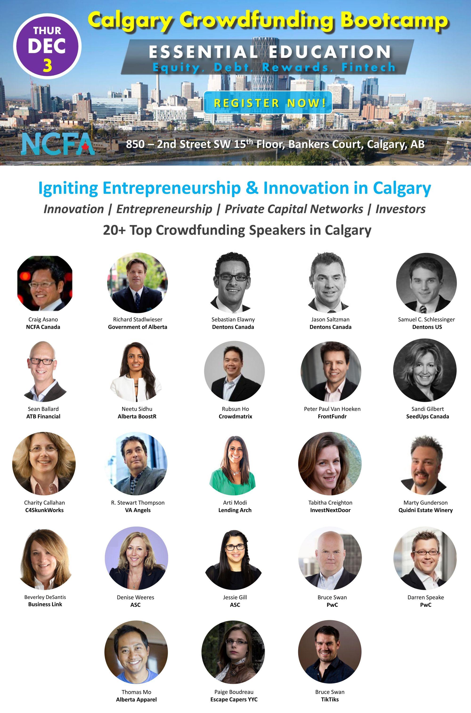 NCFA Calgary Crowdfunding Bootcamp Speakers2