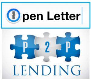 Open letter P2P lending