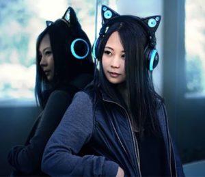 Accent cat ear headphones