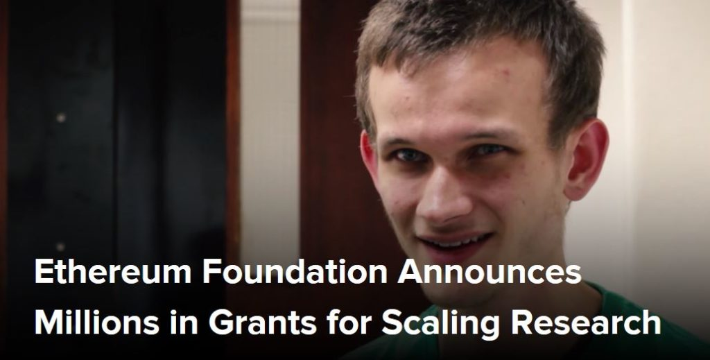 Ethereum Foundation Announces Millions in Grants for Scaling Research