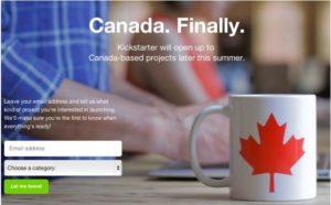 kickstarter in Canada 300x186 - Kickstarter Allowing Canada-Based Projects Beginning This Summer
