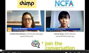 ncfa chimp crowdfunding hangout 300x178 - Google Hangout with Chimp: Charitable Donations and Crowdfunding