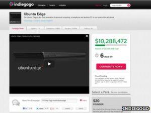 ubuntu indiegogo campaign 300x225 - Ubuntu sets crowdfund pledge record for Edge smartphone