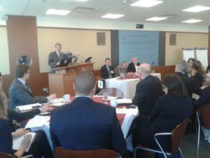 Jim Turner Vice Chair OSC Kicks off NCFA Canada Event 300x225 - Toronto NCFA Event (April 16, 2014):  Igniting Entrepreneurship and Capital Flow in Ontario