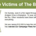 Brampton fire1 150x150 - Local Crowdfunding Platform to Assist Fire Ravaged Communities