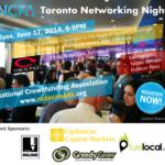 Toronto Event (Jun 17, 2014):  National Crowdfunding Association Networking Night