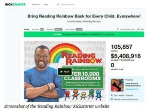 Reading Rainbow 300x228 - 'Reading Rainbow' Closes Kickstarter Campaign At Over $5.4 Million