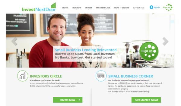 InvestNextDoorBorrowingHomePage1 - InvestNextDoor Crowdlending Marketplace Drives Community-direct loans