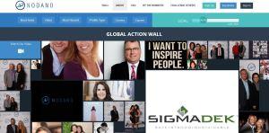 Nodano Global Crowdfunding wall
