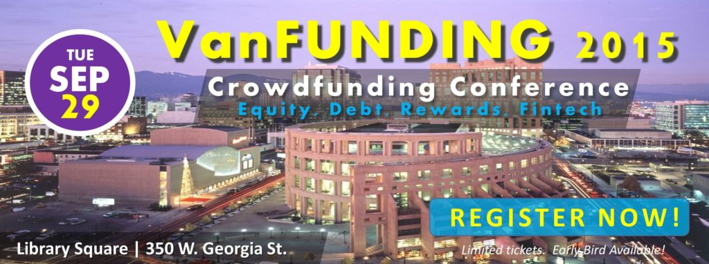 VanFUNDING2015 horizontal 1024x382 - Speaker Lineup Announced at VanFUNDING 2015: Western Canada's Leading Crowdfunding Conference (Sep 29)
