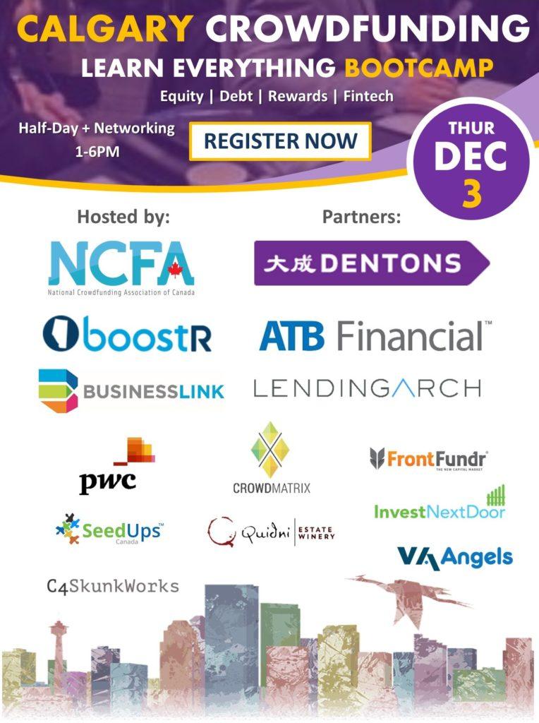 NCFA Calgary Crowdfunding Bootcamp Dec 3 v5 764x1024 - All Events