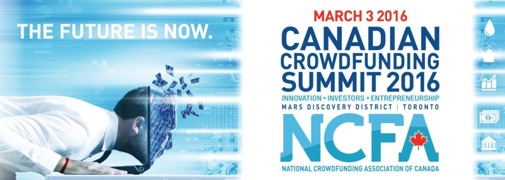 NCFA16 Banner Jan12 2000 1024x366 - Event Wrap-up: 2nd Annual 2016 Canadian Crowdfunding Summit on March 3 (Toronto)