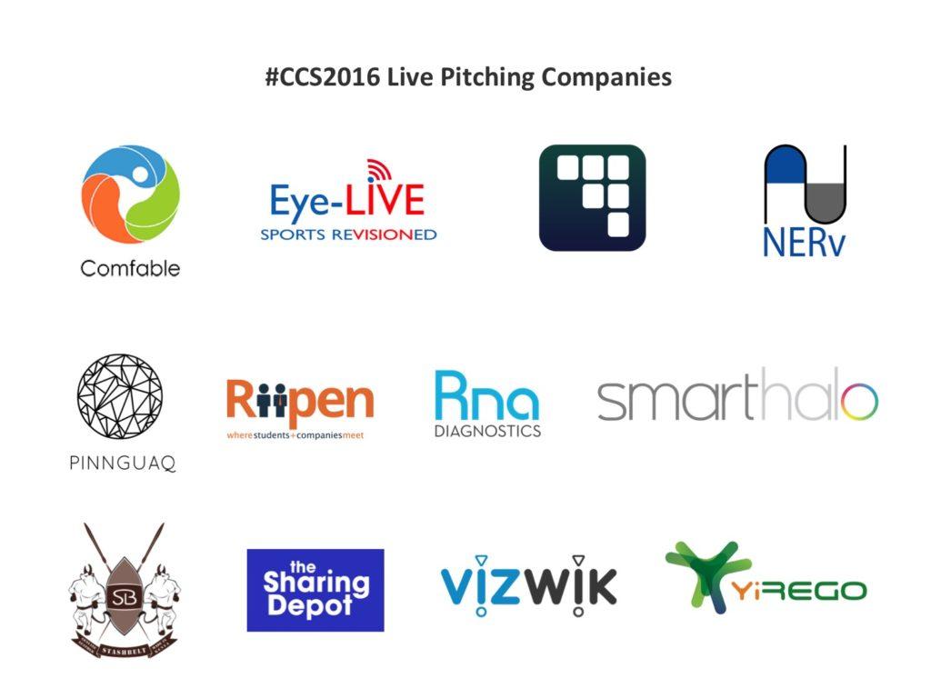 Pitching company logos