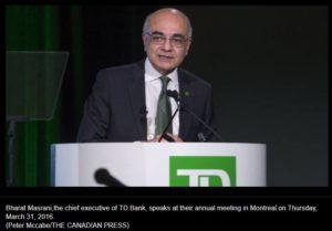 TD Bank CEO