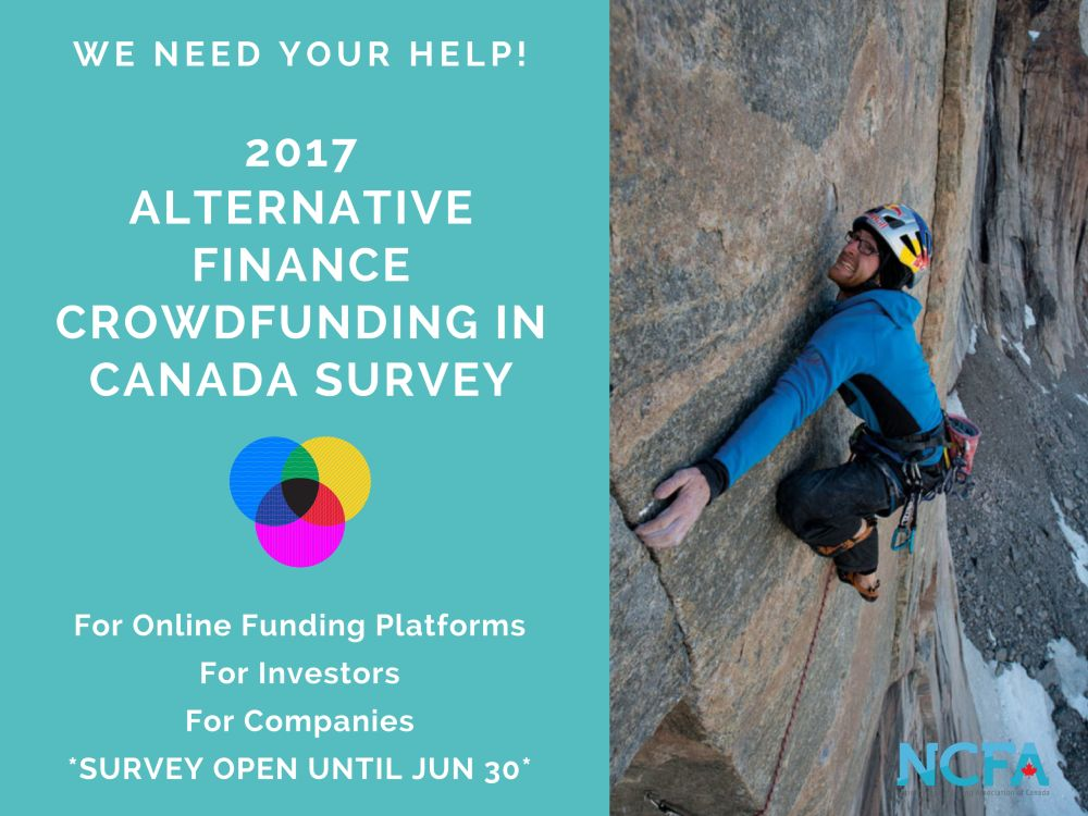 2017 NCFA Survey Banner 2 resize - Now OPEN:  2017 Annual Alternative Finance Crowdfunding in Canada Survey