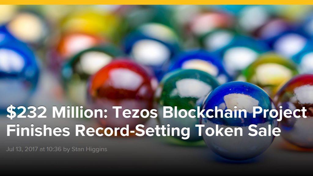 Tezos ICO 1024x576 - $232 Million: Tezos Blockchain Project Finishes Record-Setting Token Crowdsale