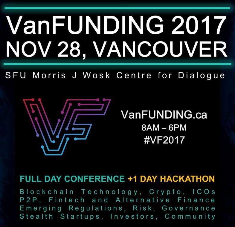VF2017 banners4 1000 portrait - [VanFUNDING 2017, NOV 28]:  Blockchain Fintech Conference + RegTech Hackathon (Vancouver)