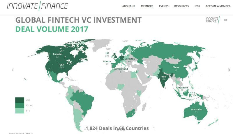 Innovate Finance global VC activity 2017 - Innovate Finance Data:  2017 VC Investment Landscape