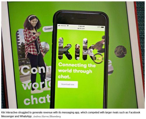 kik chat app - Waterloo-based Kik shuts down signature app, lays off staff amid cryptocurrency legal battle