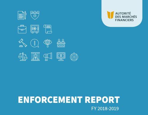 AMF enforcement report - AMF announces its 2018-2019 Enforcement Report