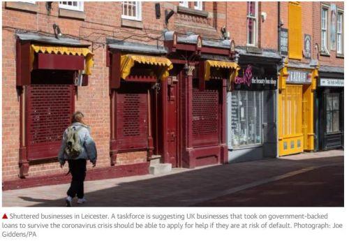Covid impact on small businesses - Treasury mulls plan to set up coronavirus toxic debt body to save UK small businesses