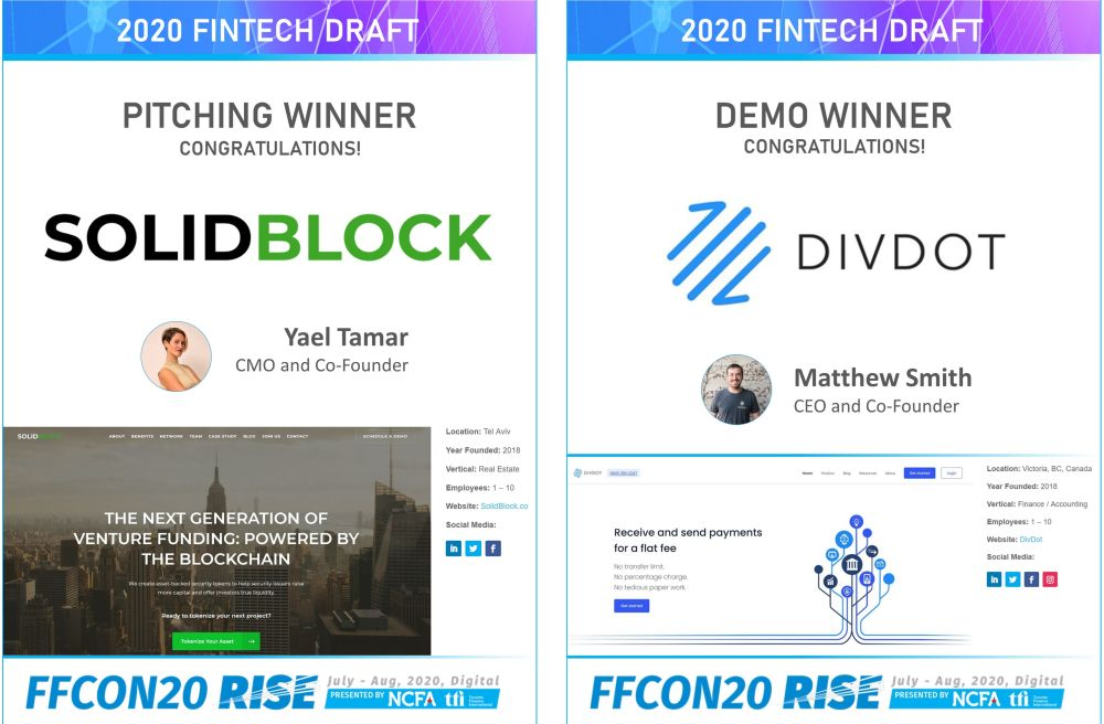 FFCON20 Pitching and Demo Winners - Fintech Startups Broke Apart Financial Services. Now The Sector Is Rebundling