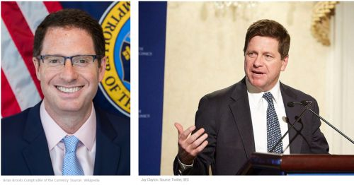 Jay Clayton and Brian Brooks - SEC chair: perhaps all stocks could become blockchain tokens