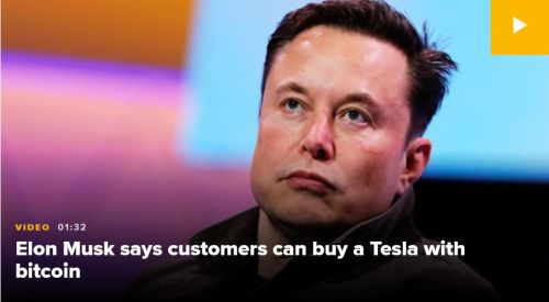 Elon tweets you can now buy tesla with bitcoin 1 - Elon Musk says people can now buy a Tesla with bitcoin